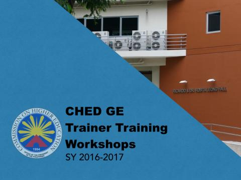 CHED GE Trainer Training Workshops Participants