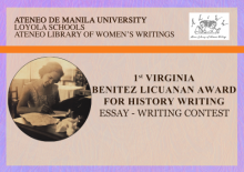 1st VIRGINA BENITEZ LICUANAN AWARD FOR HISTORY WRITING