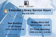 Extended Library Service Hours